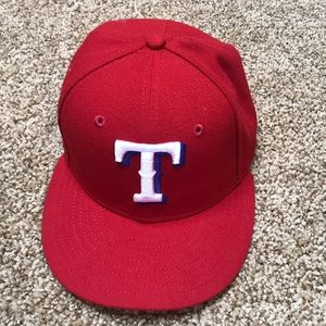 Texas Rangers Baseball Cap - 7 1/8 - Red